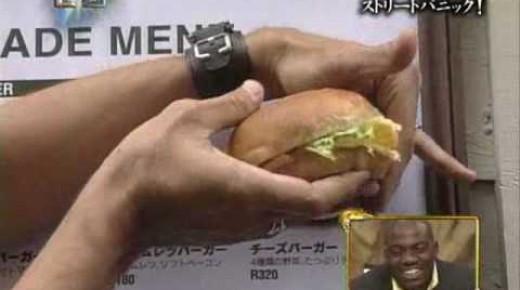 セロ伝説の始まりだ!世界が仰天した看板からハンバーガーを取り出す現象!