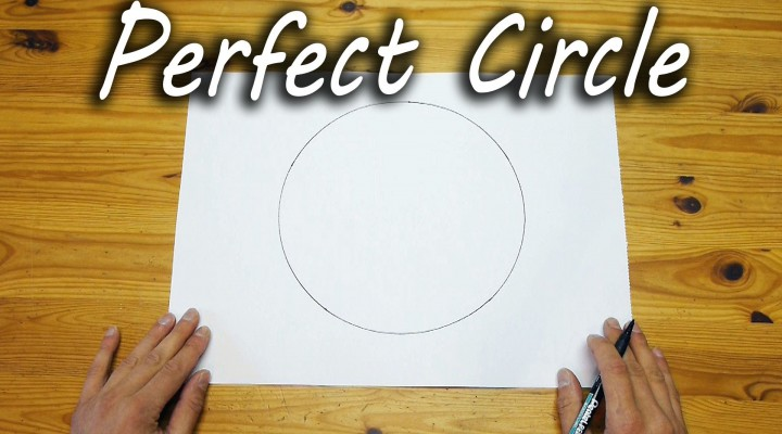 コンパスいらずで完璧な円を描く方法が斬新であり簡単で楽しい!